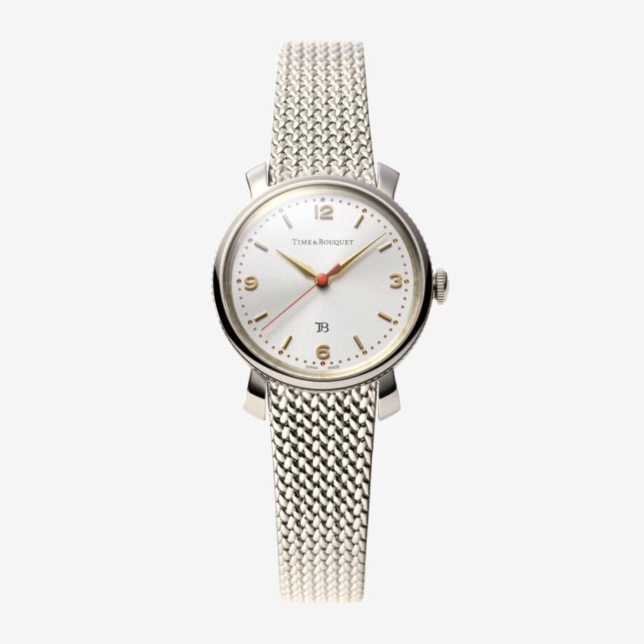 Coquericot正面: ひなげしをモチーフにした腕時計(白ワイン色)
