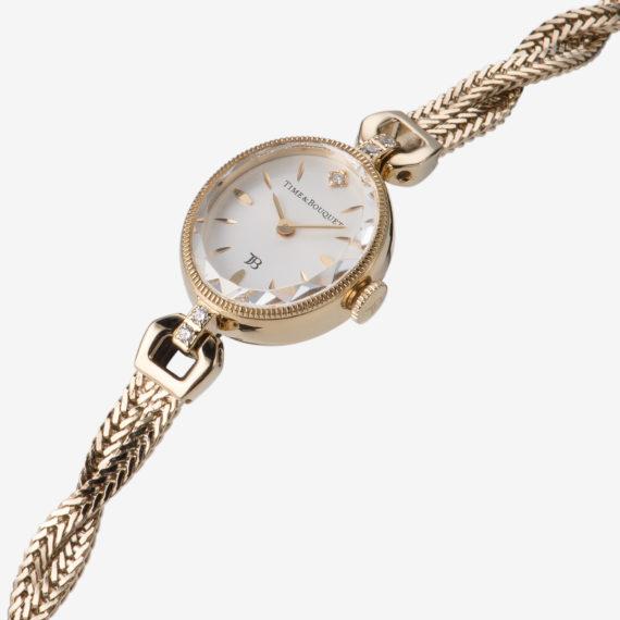 1粒の宝石のように輝くオーバルシェイプのカットガラス - Muguet(ミュゲ): すずらんをモチーフにしたブレスレット型腕時計