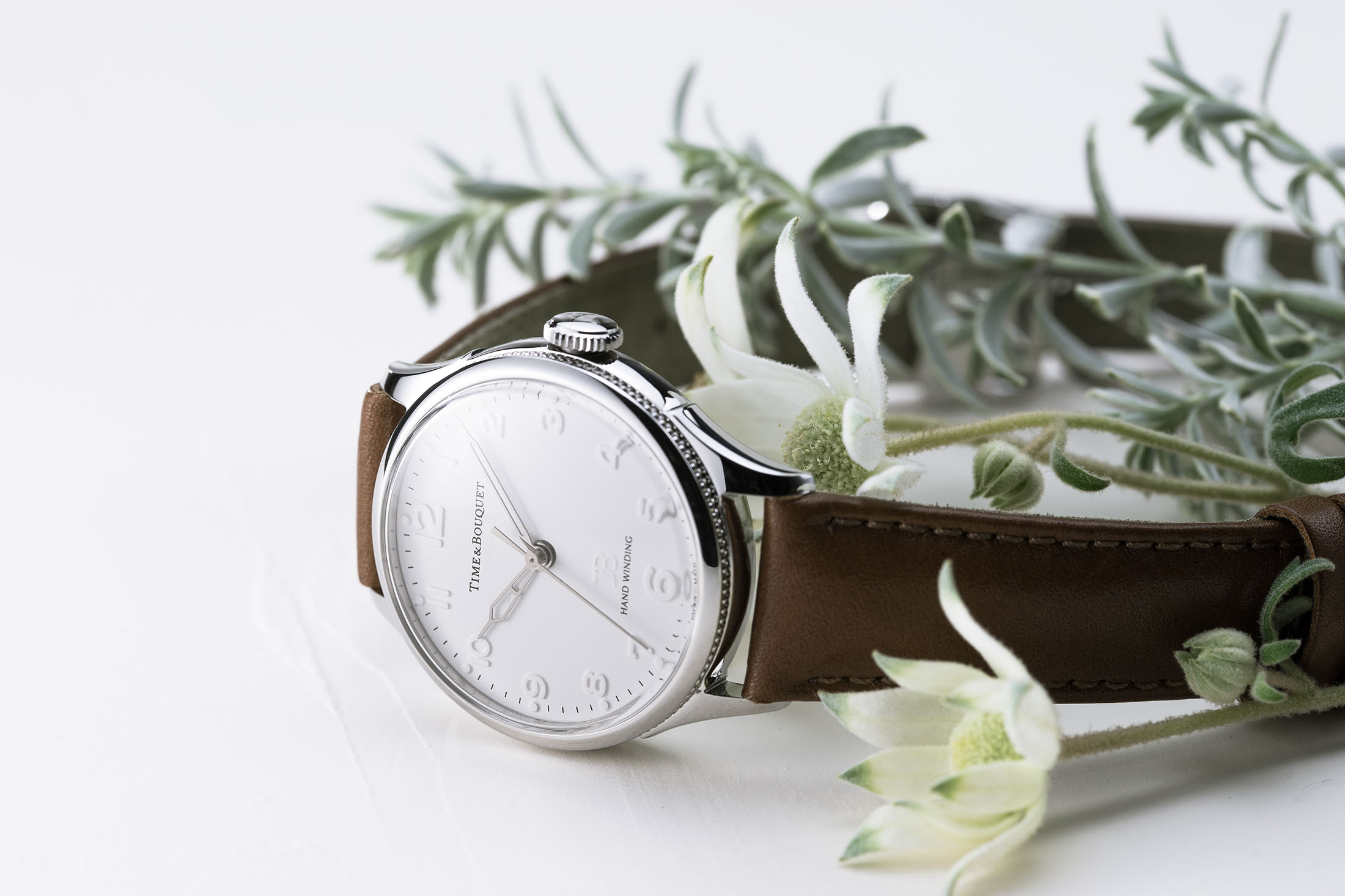 Nel(ネル)フランネルフラワーをモチーフにした機械式腕時計