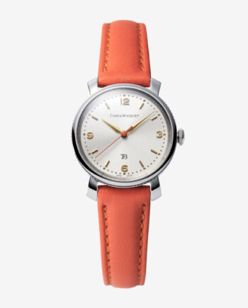 Coquericot正面: ひなげしをモチーフにした腕時計(オレンジ)